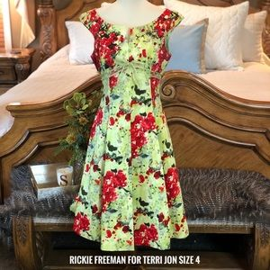 Rickie Freeman for Teri Jon Floral Fit & Flare